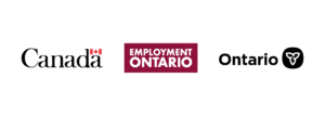 Tri-logo: Government of Canada, Employment Ontario, and Government of Ontario